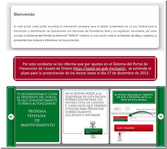 """AVISOS ANTILAVADO se extiende plazos ante """"fallas"""" del portal al 17/12/2013"""