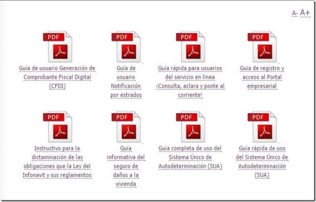 Guía  de Trámites INFONAVIT, Generación de CFDI