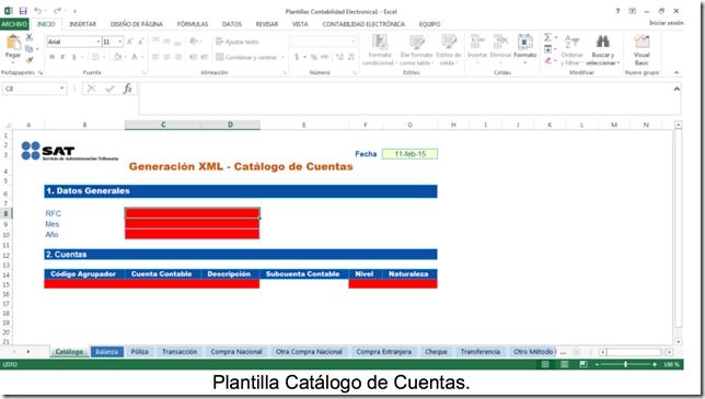El @satmx libera software para generar XML Contabilidad Electrónica. 21/05/2015