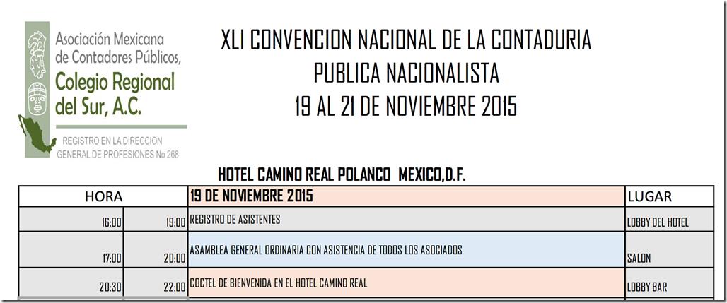 CONVENCION NACIONAL AMCPCRS  NOVIEMBRE 19 AL 21 #DF