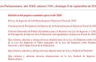 PRESENTACIÓN DE LA PROPUESTA DEL PAQUETE ECONÓMICO 2020, 8/09/2019, descarga el paquete 2020 aquí.
