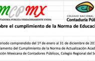 Cumpliendo con la NORMA DE EDUCACIÓN PROFESIONAL - CNCPMX